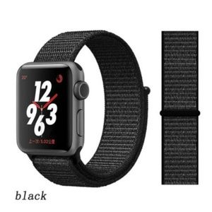 ❤️NEW Black Sport Loop Strap For Apple Watch